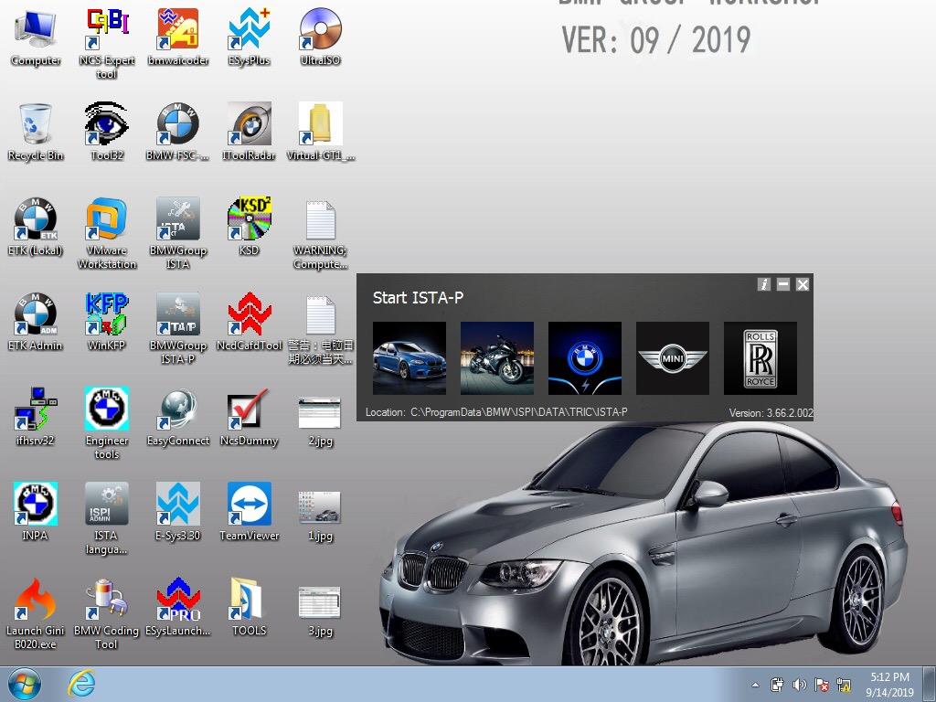 ICOM BMW A3+B+C Set Software v.2019.9
