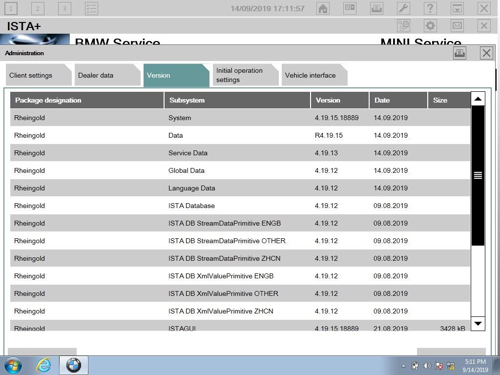 Software HDD for ICOM BMW Ista P Ista + v.2019.9