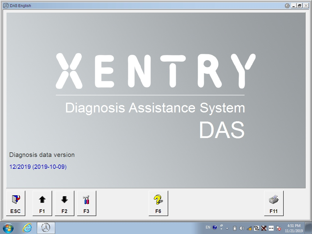Software xentry diagnostic 2019.12