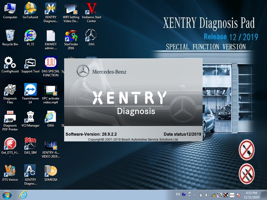 xentry diagnostic software 2019.12