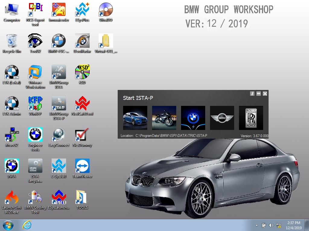 ICOM BMW A3+B+C Set Software v.2019.12
