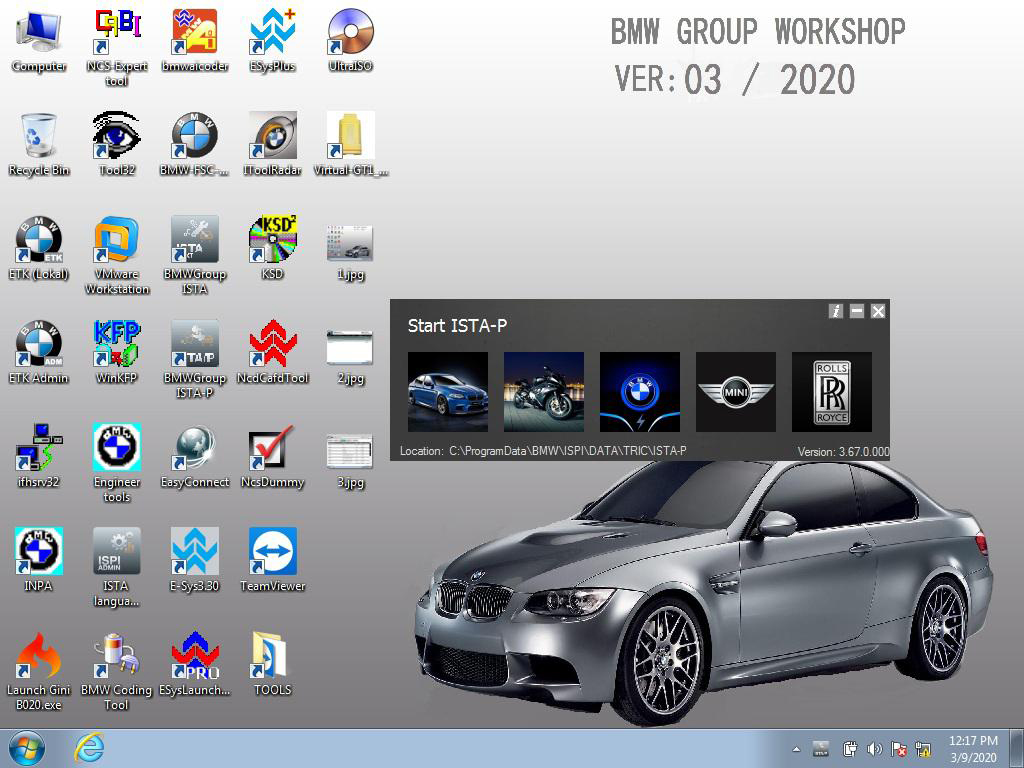 Software HDD for ICOM BMW v.2020.03