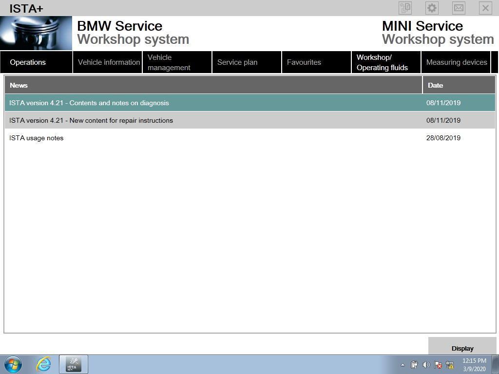 Software HDD for ICOM BMW Ista P Ista + v.2020.03