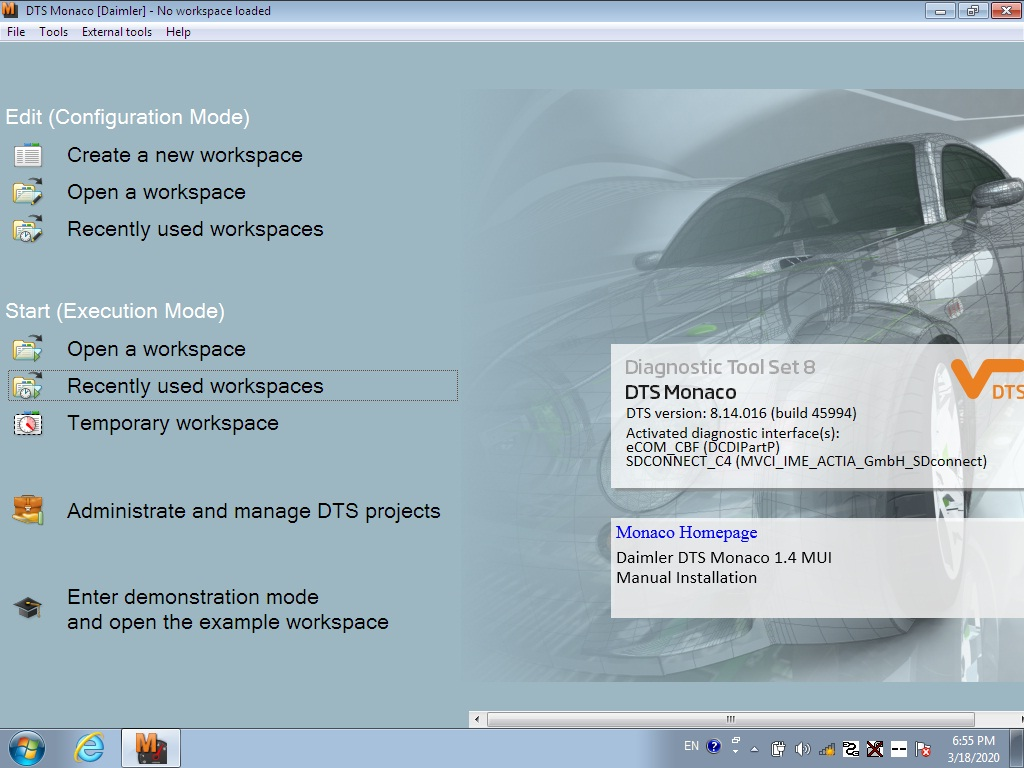 xentry diagnostic software 2020.03